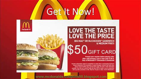 printable mcdonalds gift certificates mcdonald s gift certificates uk lamoureph blog