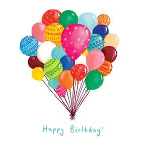 a balloon happy birthday card by randall illustration notonthehighstreet