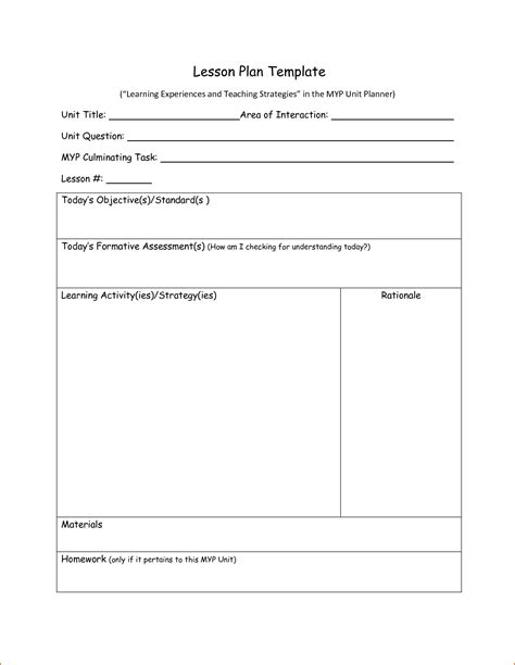 sle daily lesson plan template 6 daily lesson plan template bookletemplate org