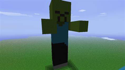 minecraft tutorial zombie statue zombie statue minecraft project