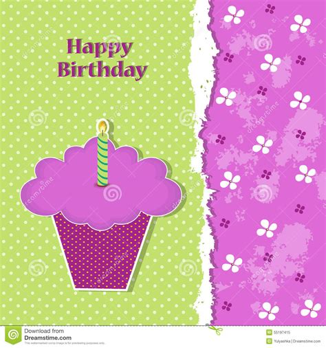 layered flower card template birthday greeting card template stock illustration image