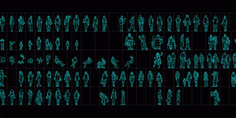 human figures  dwg elevation  autocad designs cad
