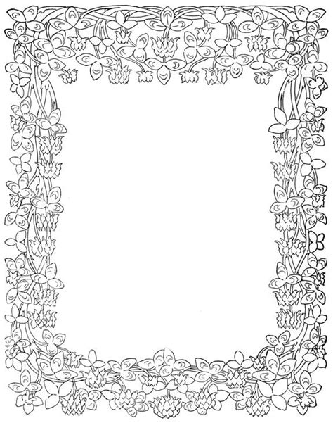 border designs coloring pages printable borders and frames coloring pages clipart