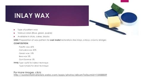 pattern definition in casting dental waxes