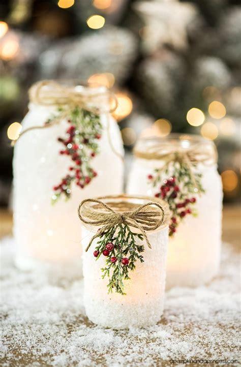 diy snowy jars