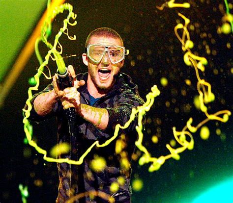 justin timberlake ghostbusters stars getting slimed nickelodeon kids choice awards