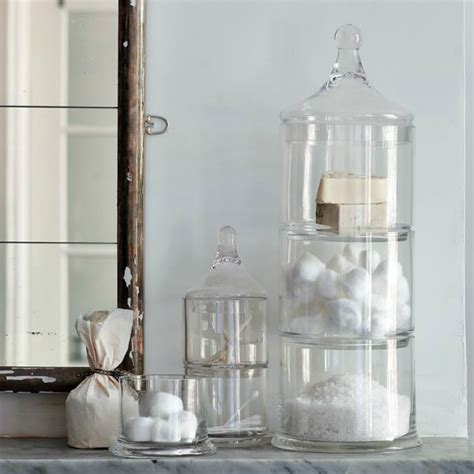 bathroom glass jars decorating with apothecary jars driven by decor