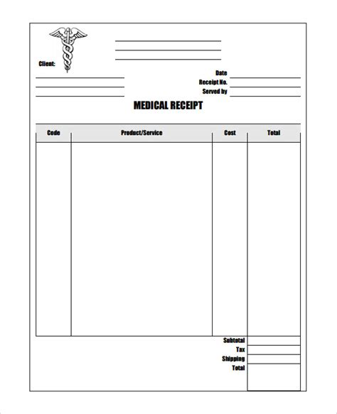 Physiotherapy Receipt Template by 17 Receipt Templates Pdf Doc Free Premium
