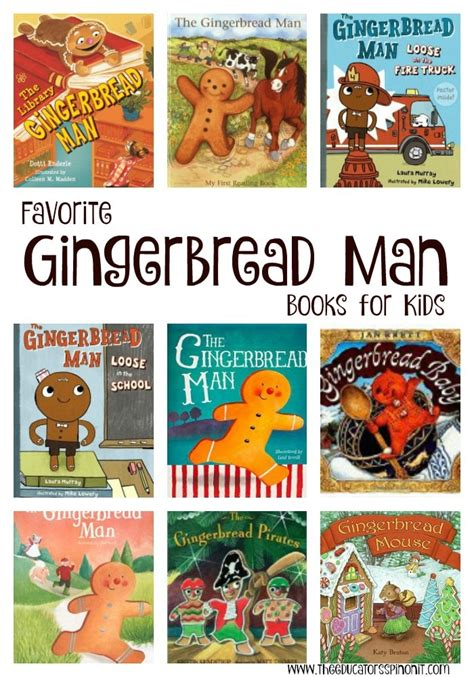 my gingerbread man printable book gingerbread man books the educators spin on it