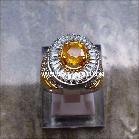 Cincin Sapphire Yellow Tanzania cincin permata yellow safir kode 132 wahyu mulia