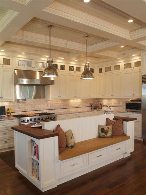 Built In Kitchen Island Kitchen Island With Built In Seating Inspiration The Owner Builder Network