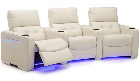 media recliner chairs palliser vox series white home theater recliner 41458vox