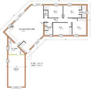 Papier Peint St Maclou #15: Plan-maison-traditionnelle-plain-pied-4-chambre-7452.jpg