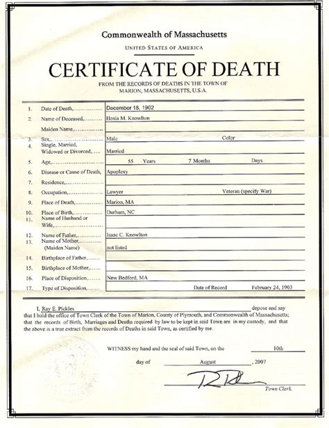28 certificate of death template 7 death