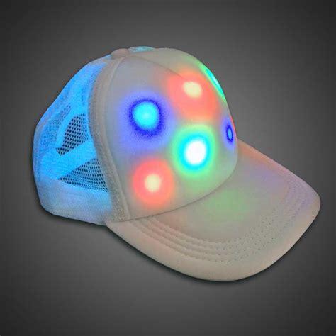 hat with led lights led cap lighted trucker baseball hat