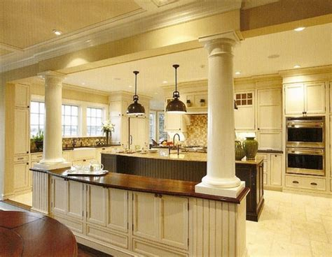 kitchen columns columns between kitchen and living room kitchen remod