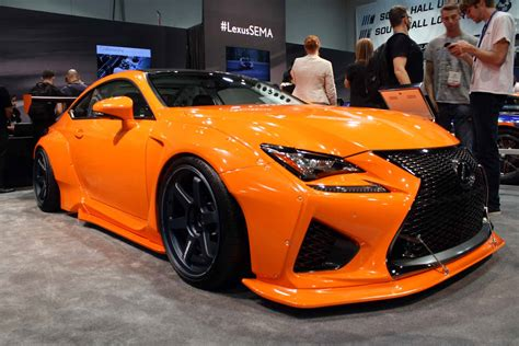 lexus sema 2016 wide rc f highlights lexus booth at sema 187 autoguide