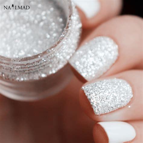 Glitter Nails by 10ml Shiny Silver Nail Glitter Sequin White Glitter Powder