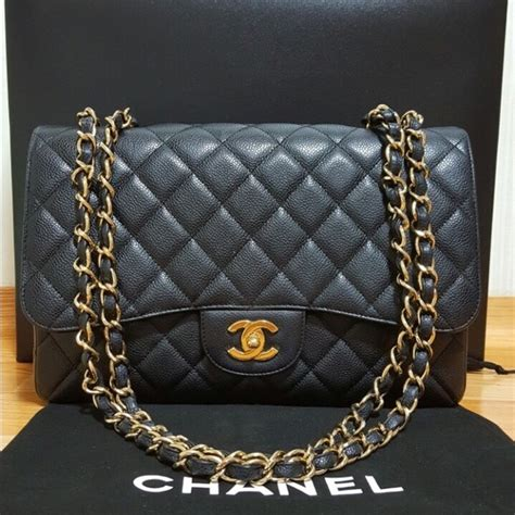 Ode To Kates Jumbo Chanel Flap by 20 Chanel Handbags Sold Chanel Jumbo Caviar Single
