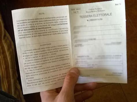 ufficio elettorale comune di firenze tessere elettorali complete da cambiare ritiro dal comune