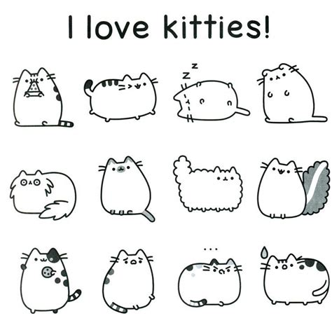 pusheen coloring pages pdf free coloring pages at pusheen coloring pages free coloring page cute animals