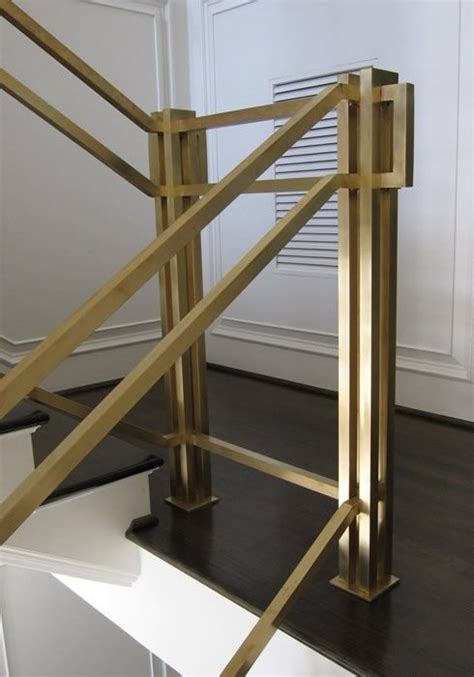 Brass Handrails For Stairs brass railing home