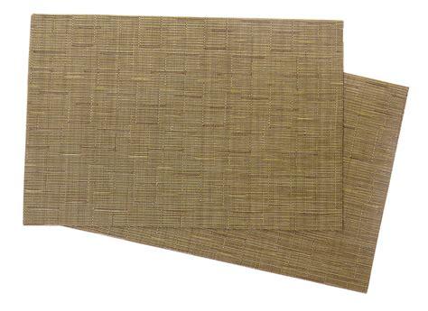 Produk Dapur Modern Folding Pot Mat squish crossweave woven vinyl placemat set of 4 green