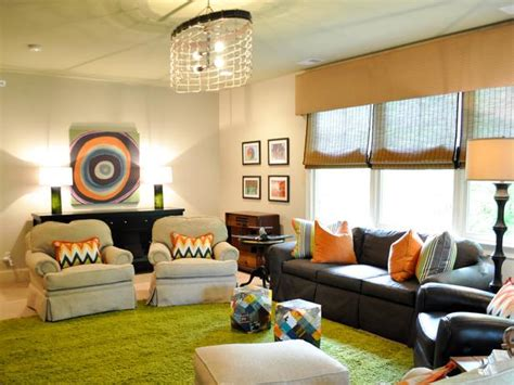 playroom in living room eclectic playroom with bright green rug hgtv