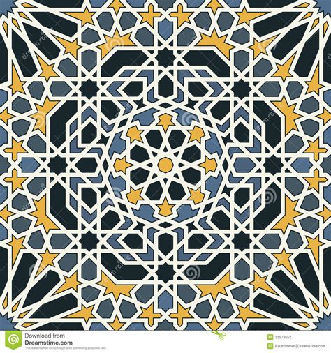 photography pattern vector arabesque seamless pattern in blue and yellow stock vector