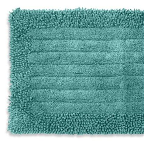 aqua bathroom rugs buy fine lines bath rug from bed bath beyond