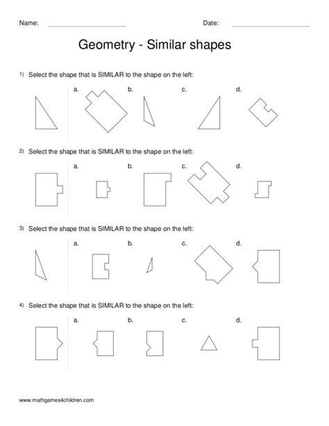 Similar Shapes Worksheet by Similar Figures Worksheet Lesupercoin Printables Worksheets