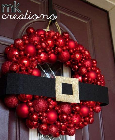 santa bauble wreath tutorial christmas wreaths