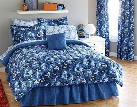 blue camouflage bedding bright blue camouflage army boys queen comforter set 8