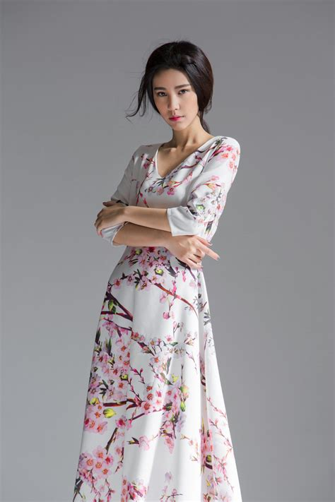 Dress Muslim Maxi Dress Wanita Fissela dress motif floral maxi dress korea dress cantik