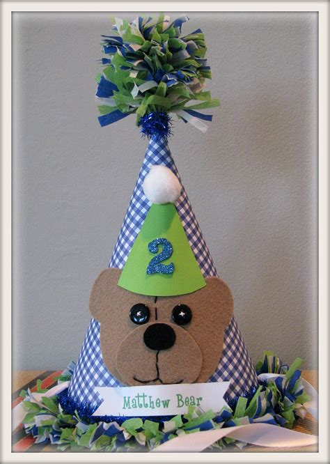 Handmade Birthday Hats - items similar to handmade teddy birthday hat on