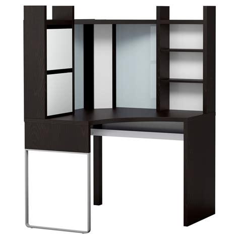 Corner Work Desks Any Suggestions On How To Make Micke Corner Desk Work With Dual Screens Ikea Hackers