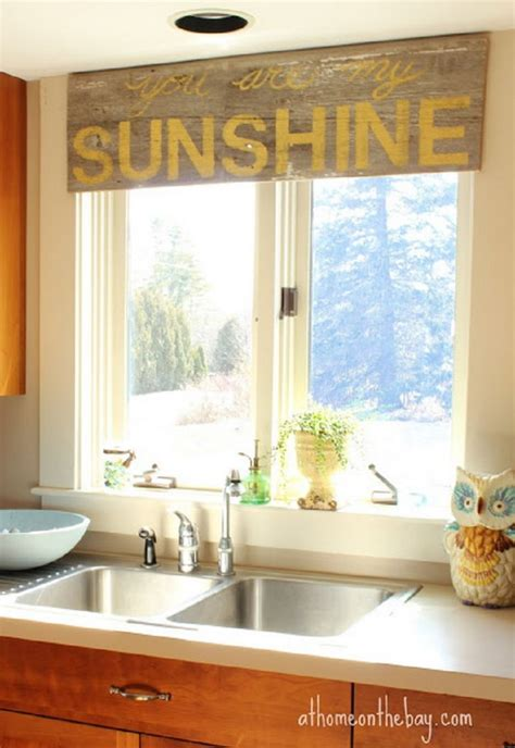 kitchen valances ideas creative kitchen window treatment ideas hative