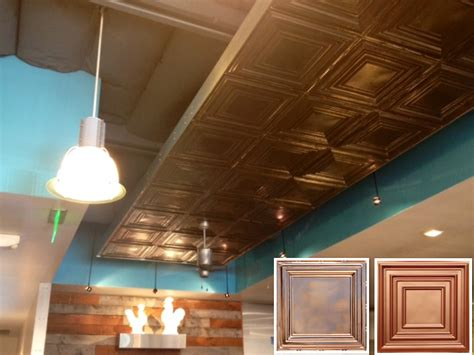 Copper Ceiling by Restaurant Ceiling Ideas Mendocino Farms Copper Ceiling
