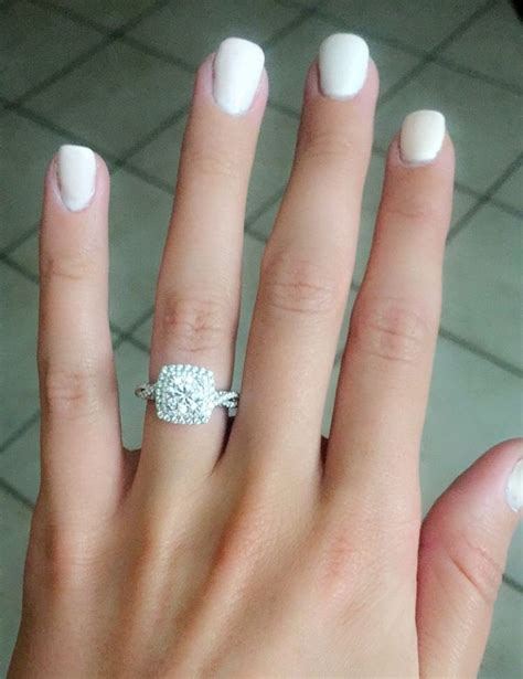 Cushion Engagement Rings by 1000 Ideas About Cushion Cut On Engagement