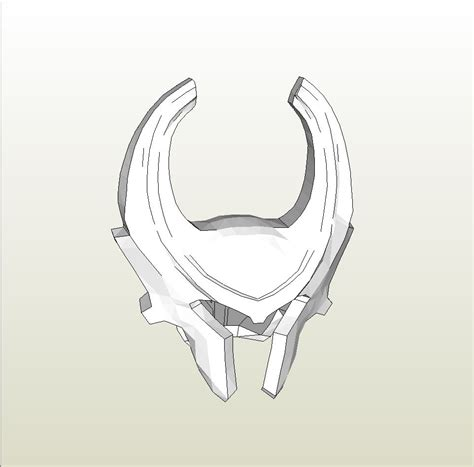 papercraft pdo file template for thor heimdall helmet