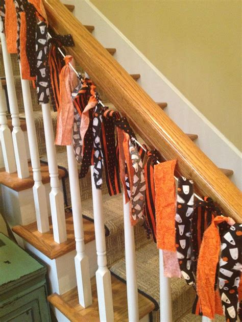 Decorating Banisters For Christmas Super Cute Super Easy Halloween Banister Decor Also