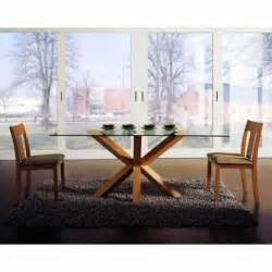 dining table furniture glass top modern round with wooden base