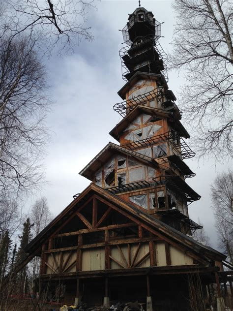 Goose Creek Cabins by This Alaskan Log Cabin Tower House Looks Like A Dr Suess