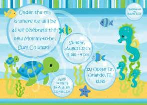 under the sea baby shower invitations template best