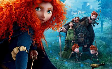 brave princess merida  red haired archer disney