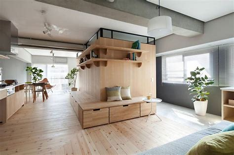Tokyo Serviced Apartments Design Clever Minimalist Partition Expands 689 Sq Ft Tokyo Apartment Treehugger