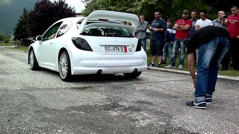 peugeot 207 rally exhaust sound test peugeot 207 rally youtube
