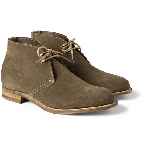 church s suede chukka boots in brown for lyst