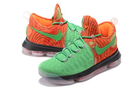 kd shoes for sale nike kd 9 green orange mens basketball shoes for sale free
