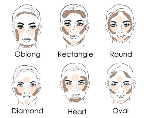 twa oblong face shape how to contour and highlight for your face shape oblong